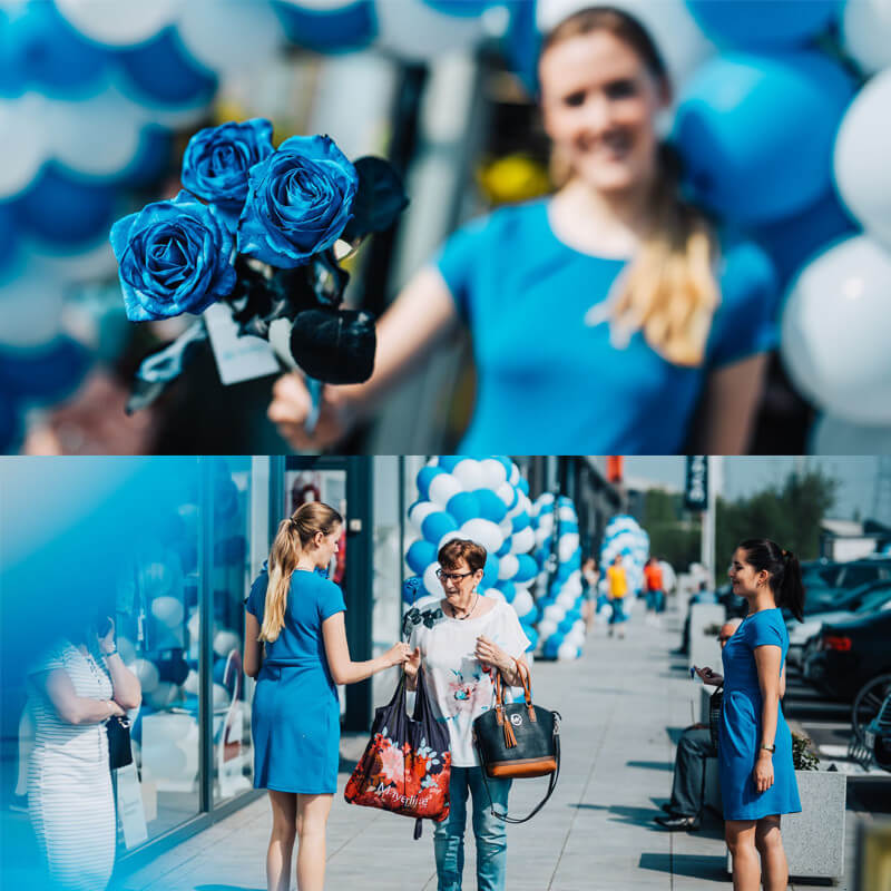 Shopping Blue - Fotoblok 1 - 1